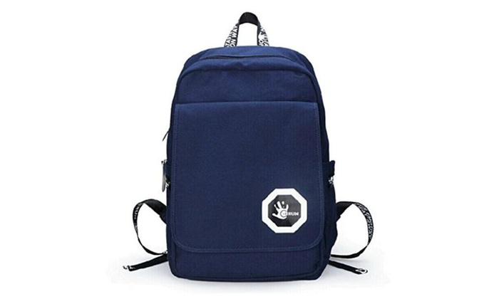 Vintage Fashion Cotton Canvas Laptop Computer Backpack Outdoor – Dark Blue / one size