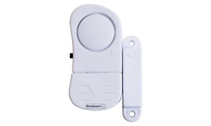 8-Piece Wireless Mini Window Security System Alarm Set