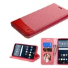 Insten Pink Leather Fabric Case W/stand/photo Display For Lg G Stylo