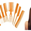 New 8 Piece Comb for Hair Styling, Parting, Cutting