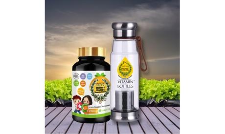 Organic Greek Vitamin Water Bottles 550mL with 250mg Vitamin C for Kids