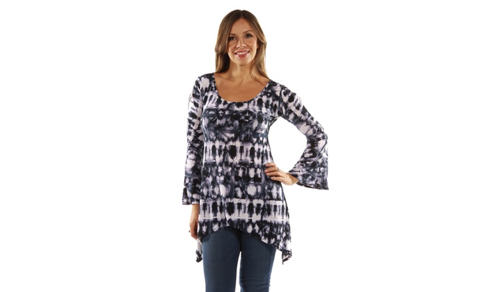 24/7 Comfort Apparel Fantasy Batik Everyday Glamour Tunic