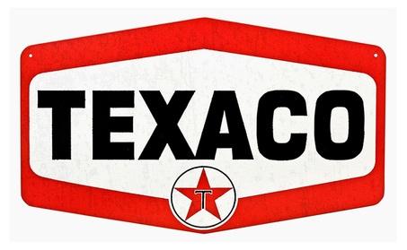 Texaco TN600 Tin Sign 34486f21-7ae2-4ea9-a9a8-276847c686d6