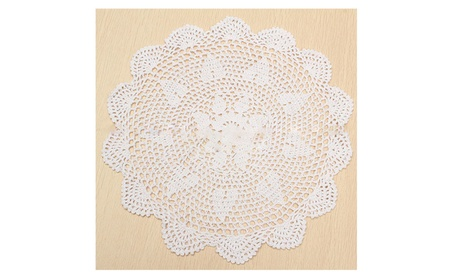 Pure Cotton Yarn Hand Crochet Lace Doily Placemat Tablecloth Decor a400aaaa-274c-48c9-a62c-26b5848c4016