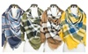 Apex Trading: Fall and Winter Blanket Square Scarf in Multi-color Plaid Pattern