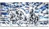 Galloping Horses Metal Wall Art 60x28 5 Panels