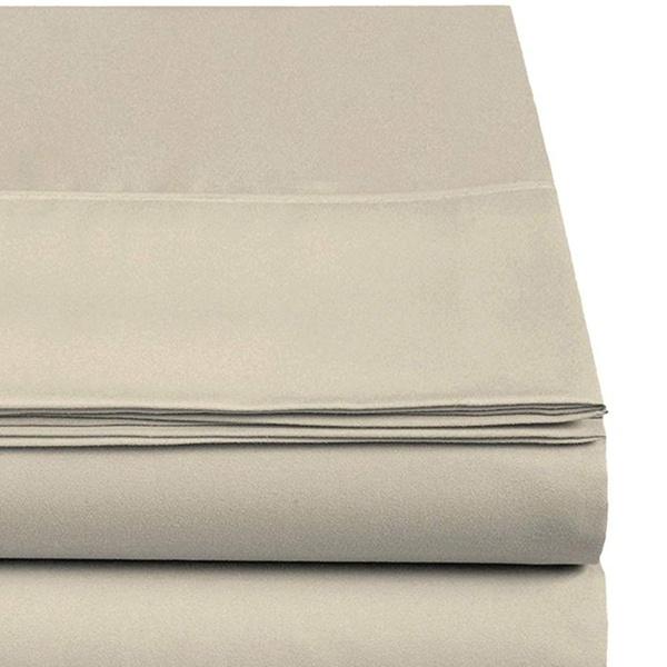 CC/&DD HOME FASHION Velvety Brushed Microfiber Flat Sheets 2-Pack Full Navy 2