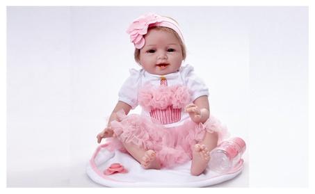 "22"" Girl Lifelike Baby Doll Silicone Vinyl Reborn Newborn Dolls Gift a06d3881-74ad-48f6-a613-2485dce2d79f"