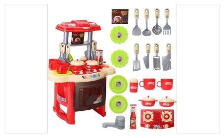 Toy Cooking Pretend Play Kitchen Set Kids Food Bake Toddler Plastic cf2a08f0-9157-4373-9c63-07dba34f40cf