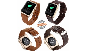 Genuine Leather Bracelet Strap Watch Band for Apple Watch Series 4 3 2 1