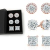 Sterling Silver Stud Set Made with Swarovski Crystals by Mina Bloom