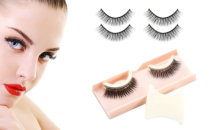 927b36bc9ac 3D Self Adhesive Eyelashes Non-Irritating Lashes Strips Extensions for  Makeup