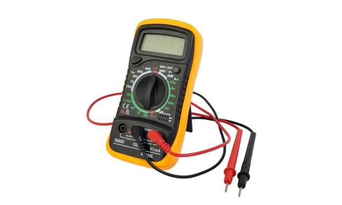 Digital Voltmeter Ammeter Ohmmeter Multimeter Volt AC DC Tester