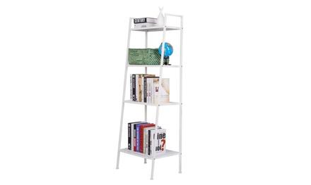 Metal 4 Shelf Bookcase Multifunctional Plant Stand Rack Storage Shelves