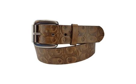 Distress Embossed Leather Belt 39f7e93f-f5cf-4061-b8dc-13b918fb7fd5