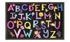 Homemartgoods: Black Multi Color Animals Alphabet Educational Kids Area Rug Carpet
