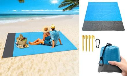 Oversized Lightweight Portable Beach Mat Picnic Blankets Sand Proof Mat