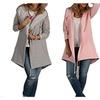 Women Long Sleeve Fleece Casual Cardigan Hoodies Tunic Loose Jacket