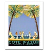 'Cote D'Azur' Canvas Rolled Art