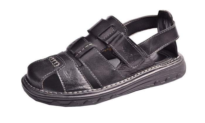 Men's Outdoor Rubber Fashoin sandals for man - Black / US M 5