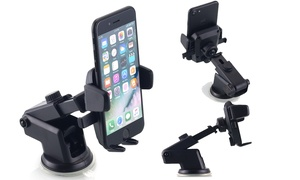 360 Degree Universal Car Windshield Dash Mount Holder for Cell Phone or GPS