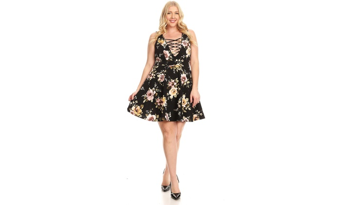 Up To 65% Off on Floral Plus Size Strappy Eleg... | Groupon ...