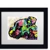 Dean Russo 'Profile Boxer Deco' Matted Black Framed Art