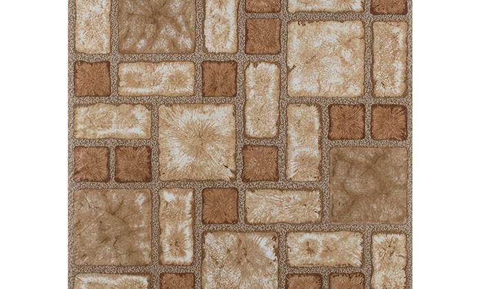 Portfolio 12x12 Self Stick Vinyl Floor Tile Cobble Mosaic 9