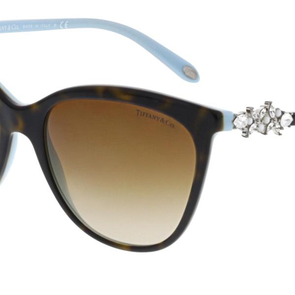 2db673946f Tiffany   Co Women s Gradient TF4131HB-81343B-56 Brown Cat Eye Sunglasses
