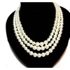 Simulated Elegant Pearl Maxi Necklace for Women