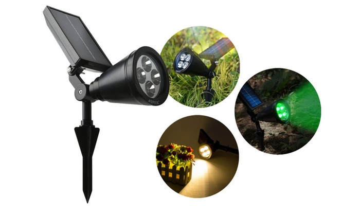 Solar LED Light Outdoor Rechargeable Waterproof Landscape Spotlight