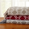 Orleans Plush Printed Throw Blanket with Fringe