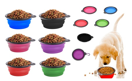 2-pk Large Collapsible Pet Feeding Drinking Travel Bowl Cup Combo Kit 2833fca1-867e-4424-8d79-8a5c8f7fdfca
