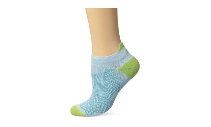 Cooling Single Tab Running Socks, Turquoise/Pistachio, Small