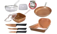 11-Piece Nonstick Cookware, Bakeware and Knife Set