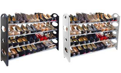 cb9376d5ece Whitmor Over The Door Shoe Rack - 36 Pair - Fold Up Non Slip Bars ...