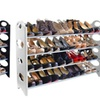 W-Home Stackable 20-Pair Shoe Rack