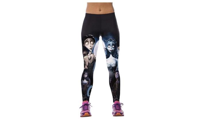 Women's Zombie Bride Digital Printed Elasticity Tight Fitness Leggings