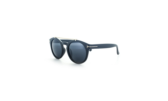 MLC Eyewear Thick Frame Dapper Crossbar Sunglasses UV400