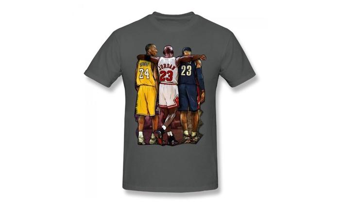 new concept 2faf7 a52cd Seven Wolf Kobe Bryant Michael Jordan Lebron James Asphalt T-shirt