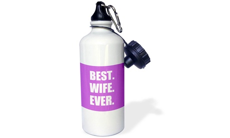 Water Bottle Purple Best Wife Ever bold anniversary valentines day gift for her