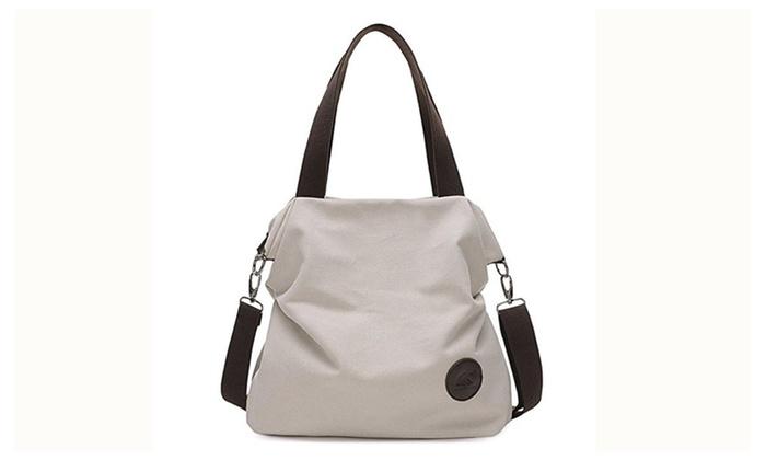 Women Weekend Travel Shopping Canvas Bag Shoulder Bag Handbag