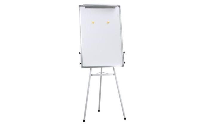 tripod dry erase whiteboard easel telescopic presentation stand new groupon. Black Bedroom Furniture Sets. Home Design Ideas