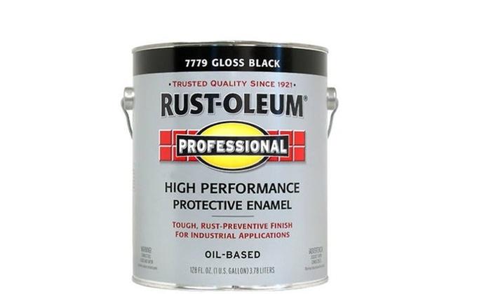 Rustoleum 1 Gallon Gloss Black Professional Oil Based Enamel