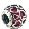 Pandora Cerise Encased in Love Charm - 792036NCC