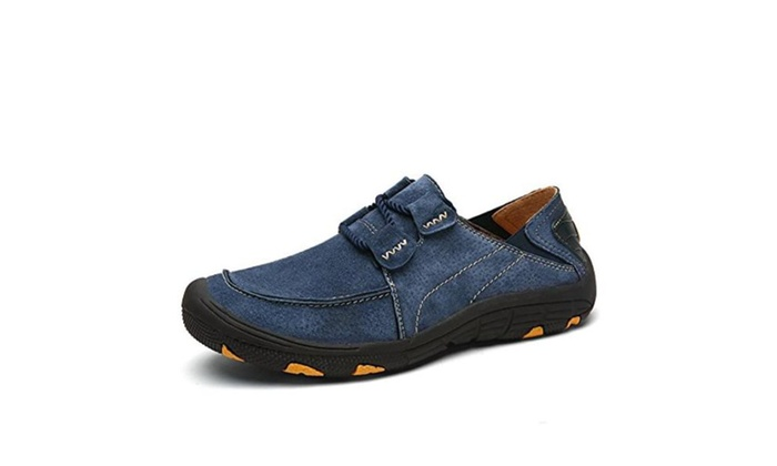 New Men's Leather Suede Outdoor Hiking Man Shoes