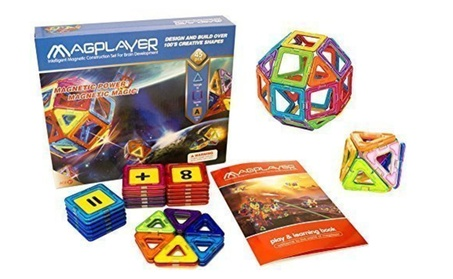 Magplayer 45 Pieces Magnetic Toys Blocks and Tiles Construction f93e427c-7e1c-49dc-a236-f0175803a6b8
