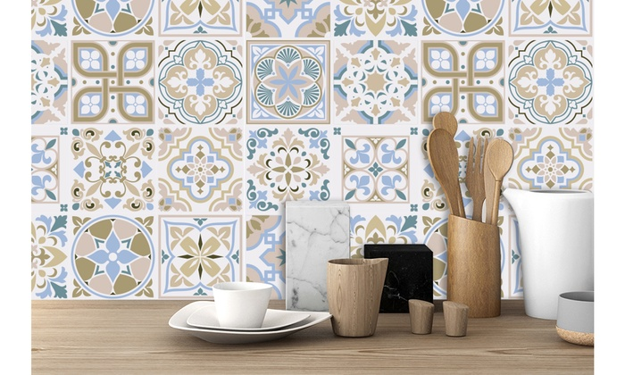 24 Piece Peel Stick Wallpaper Tile Decals 6x6in New Designs Groupon