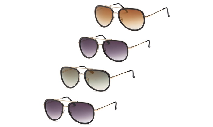 c4af1d69812 AFONiE Modern Aviator Fashion Sunglasses Pack of 4 ...