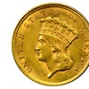 $ 3 Three Dollar Gold Coin (1854-1889) Just Discovered Rare
